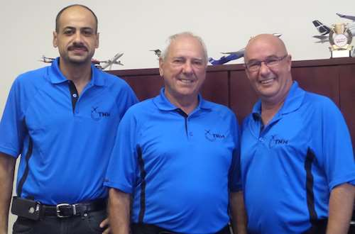 From left, Mohamad Shebarou, director of operations;  Marcel Desjarlais, owner; and Michel Martel, general manager.