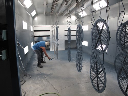 powder coating large fans