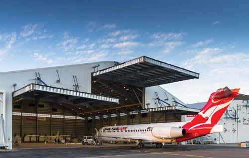 Flying Colours Aviation repainted this QantasLink 717 airplane with a base coat-clear coat system by PPG Industries'  aerospace business.