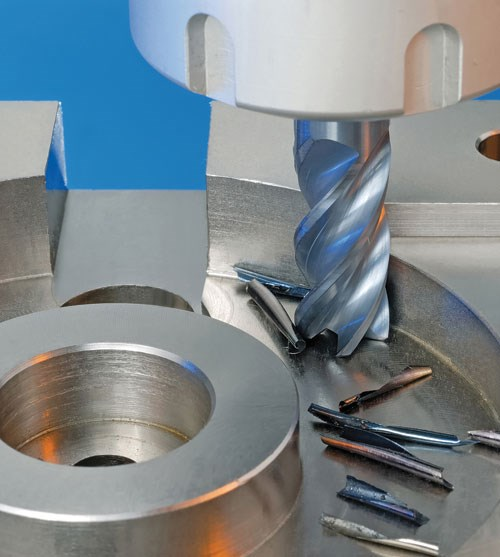 Chatterfree solid carbide four-flute end mill line