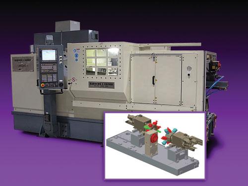 CNC center-drive lathe