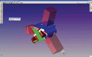GibbsCAM representation of ram block