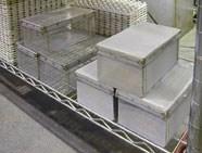 Custom-fabricated parts baskets