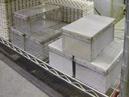 Custom-fabricated parts baskets