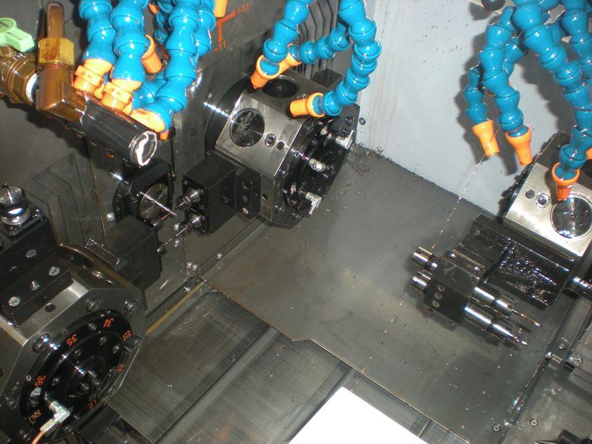 Swiss machine interior
