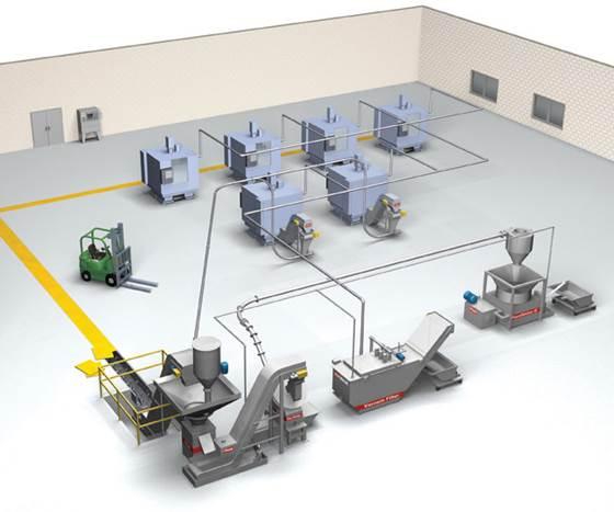 Modular Chip Transfer System