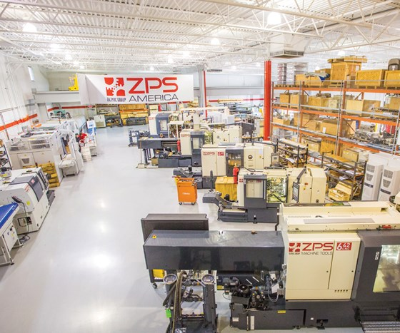 ZPS machines lined up on factory floor
