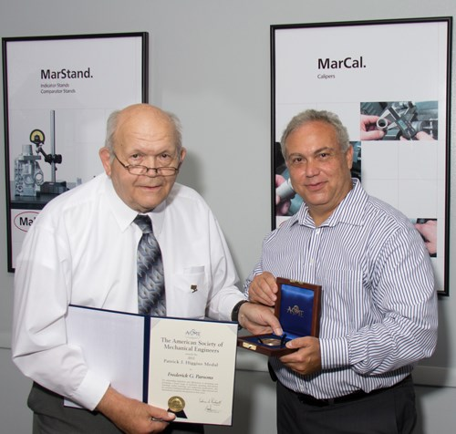 Frederick G. Parsons was honored by ASME with the Patrick Higgins Medal.
