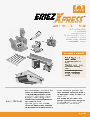 Brochure explains EriezXpressT Program
