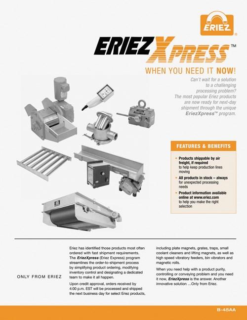 Brochure explains EriezXpressT Program