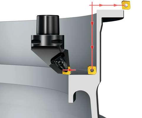 Diagram showing lead/entering angle of a cutting tool