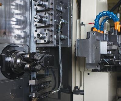 Swiss machine work zone