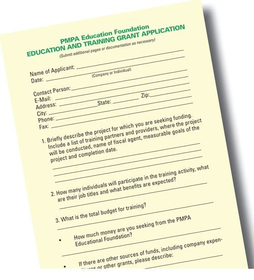 PMPA Education Foundation paperwork