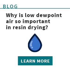 Why low dewpoint air is vital for resin drying