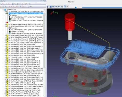 Machine Simulation in Mastercam