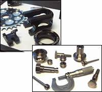 Parts of stainless steel and titanium