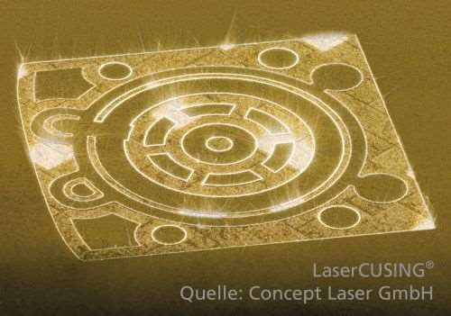 laser melting with metals
