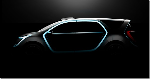 Chrysler Portal Concept exterior, side-view and LED interactive portal lighting