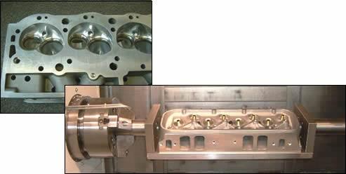 Porting a car engine's cylinder head