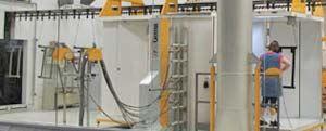 Powder coating room