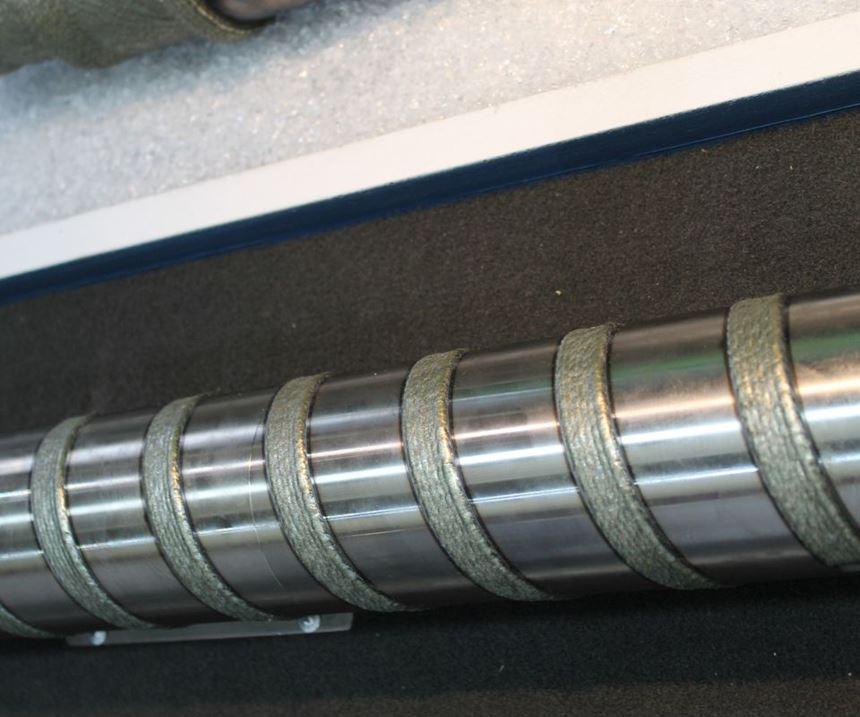 Laser-clad screw