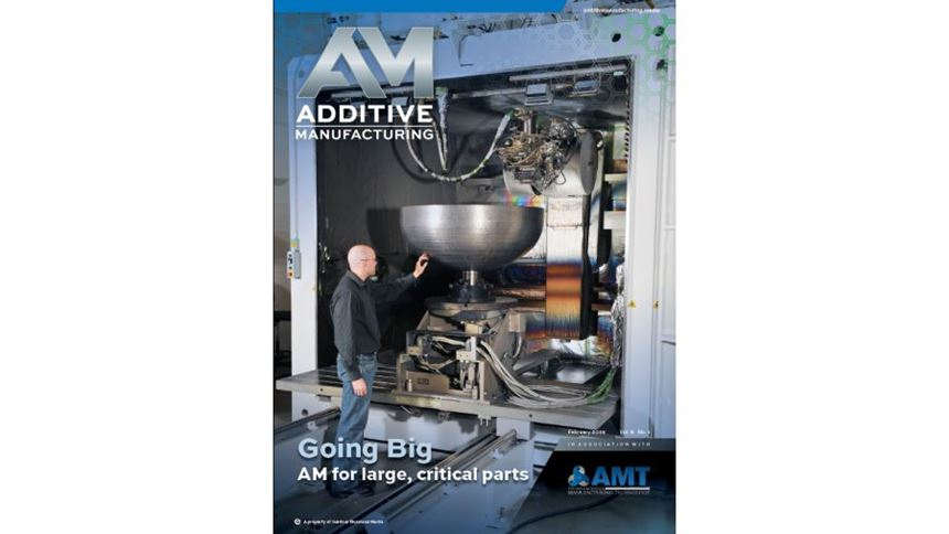 Additive Manufacturing magazine cover February 2016