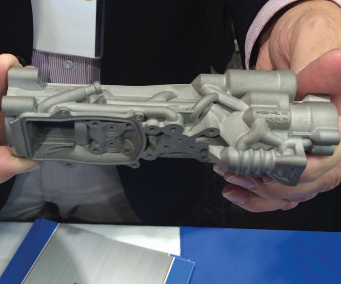 Additively manufactured electronic actuator