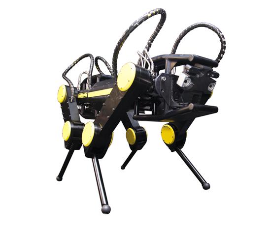 Hydraulic quadruped robot