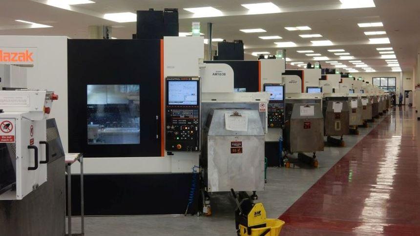 Mazak machines inside Renishaw facility