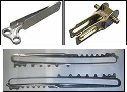 Representative titanium parts