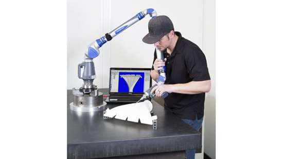 Inspection of 3D-printed prototype