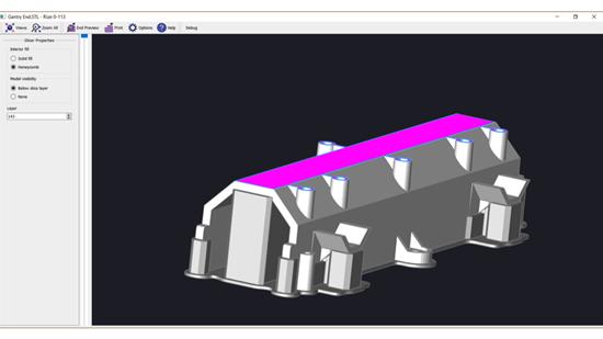 Screenshot of the software