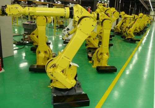Assembled and tested, Fanuc robots await shipment to a variety of facilities found around the world, including manufacturing plants located in the United States.