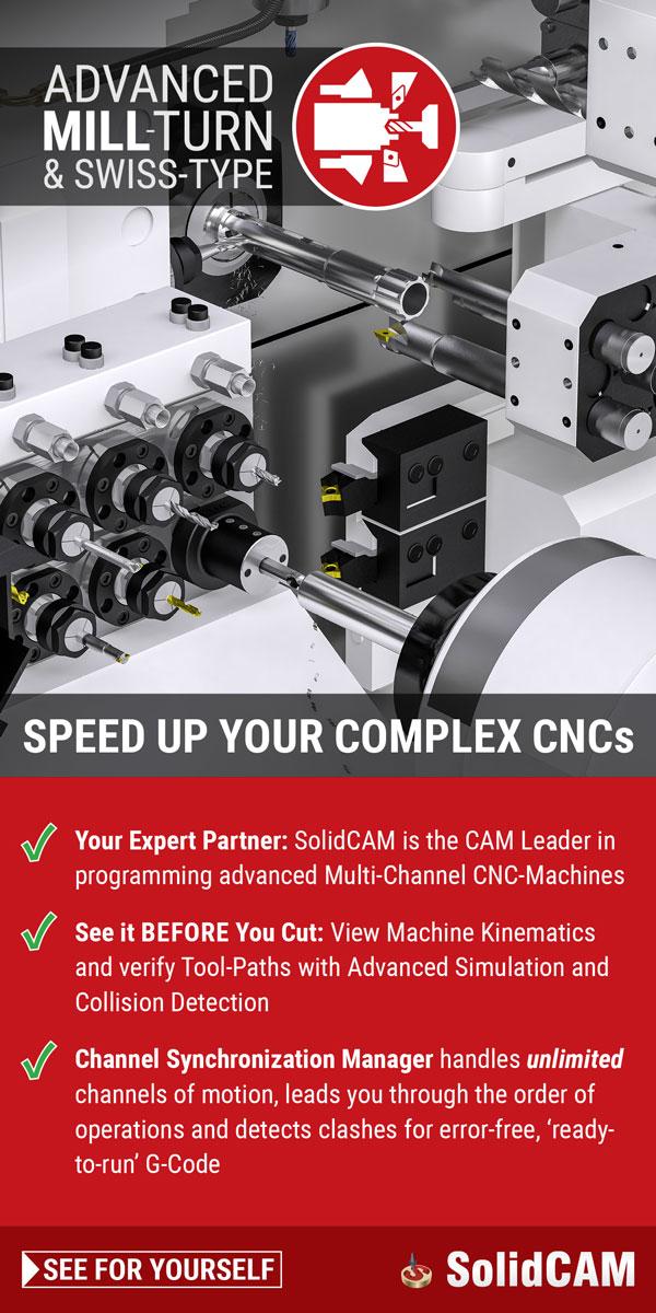 SolidCAM用于先进的铣削和瑞士式加工