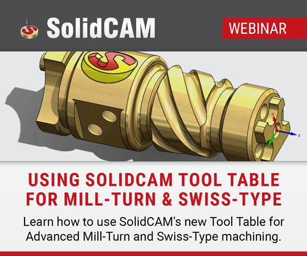 用于车铣和瑞士式机床的SolidCAM刀具台