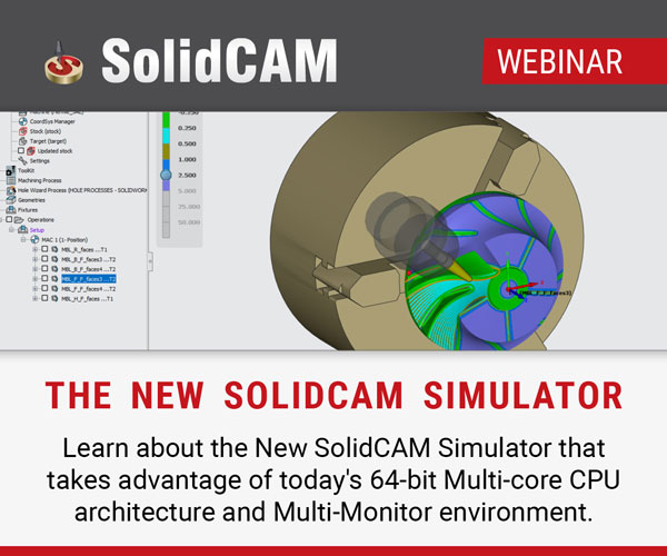新型SolidCAM模拟器