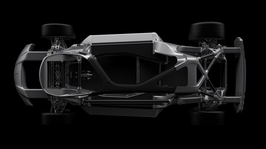 3D-printed car chassis