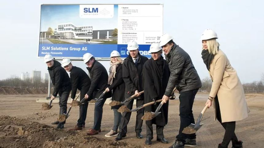 Groundbreaking of SLM Solutions Group AG new site in Leubeck