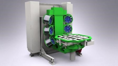 Rotomolding Mold Changes In 3 4 Minutes Plastics Technology