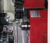 Sensor placed on a CNC lathe