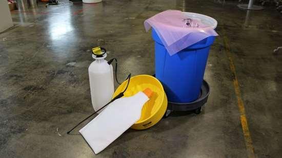 Kinetic filtration filter kit