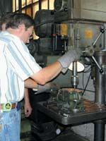 Shop foreman Kevin Lookavaugh