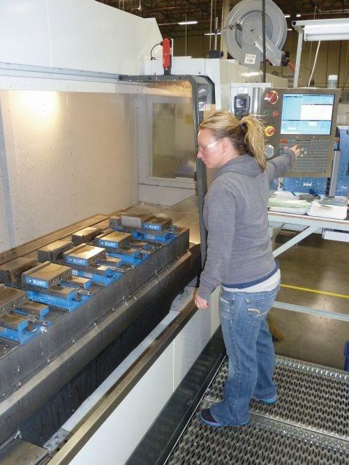 Rachel Stratton CNC machinist