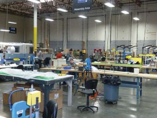 assembly area at Skills Inc.