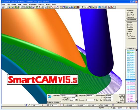 SmartCAM v15.5 Interface