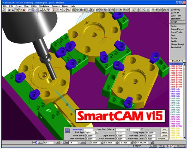 SmartCAM v15.0 interface