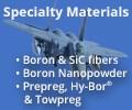specialty materials boron fiber used in F-15 ad