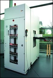 Storage for 160 small workpieces