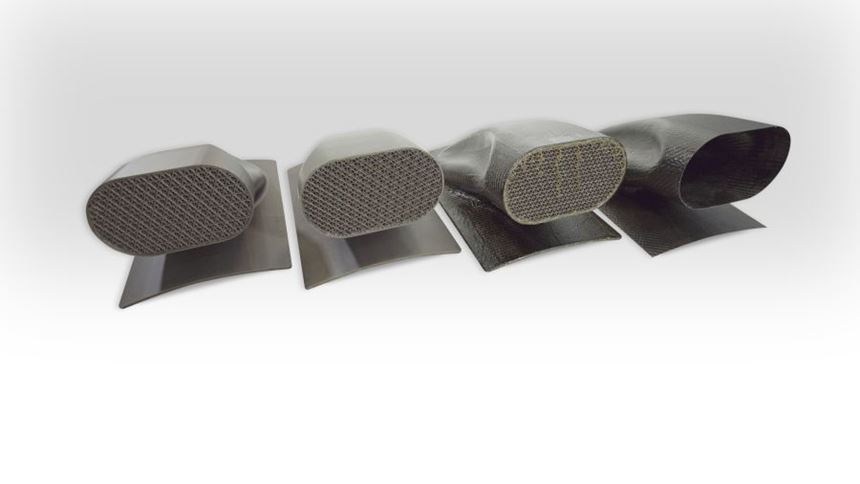 Molded hollow inlet duct
