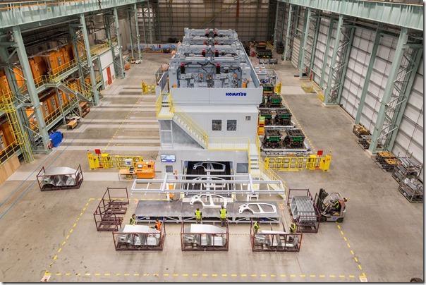 New extra large press starts production at Nissan Sunderland